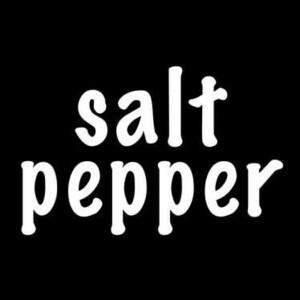 【全13色】カッティングステッカー「salt pepper」横7cm◆塩コショウ 塩胡椒 キッチン 容器 ラベル 表記 表示 冷蔵庫 調味料 おしゃれ 英語