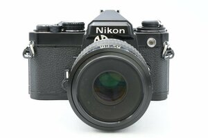 ◆ Nikon ニコン FE + Ai-S Micro-NIKKOR 105mm F4 ボディ レンズ セット フィルムカメラ MF一眼レフ 中望遠 単焦点レンズ