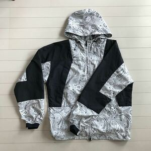 THE NORTH FACE PURPLE LABEL NP2915N ペイズリープリント マウンテンウインドパーカー Sグレー
