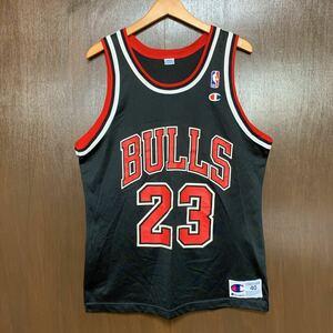 90s NBAシカゴブルズ マイケルジョーダン ユニフォーム タンクトップ チャンピオン製 サイズ40 ビンテージ