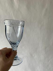 美品 デザインが素敵な色ガラスのグラス 硝子花器花瓶気泡古道具アンティークビンテージ昭和レトロインテリアディスプレイカフェ喫茶店雑貨