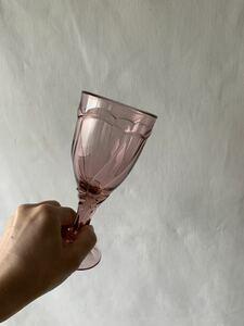 美品 デザインが素敵な色ガラスのグラス 硝子花器花瓶気泡古道具アンティークビンテージ昭和レトロインテリアディスプレイ喫茶店カフェ雑貨