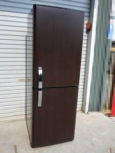 三菱 2ドアノンフロン冷蔵庫 ◆ 256L 引き出し冷凍庫 2009年製 MR-H26P-PW 幅555×奥行635×高さ1610mm 茶