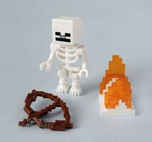LEGO マインクラフト スケルトン Minecraft マイクラ ミニフィグ 新品 正規品 レゴ 炎 弓