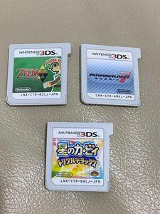 マリオカート7、ゼルダ、カービィ 3本セット 3DSソフト