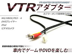 トヨタ メーカーオプションナビ専用 VTR アダプター RAV4/ラヴフォー(ラブフォー) ACA20/21/ZCA25/26 H12.5~H13.7 RCA 変換 外部入力