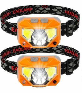 LEDヘッドライト ヘッドランプ 充電式 小型軽量 作業灯 USB充電 高輝度 電池式