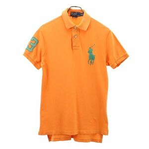 ポロラルフローレン ビッグポニー 半袖 ポロシャツ S 橙系 POLO RALPH LAUREN ワンポイント メンズ 200622 メール便可