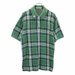 マンシングウェア チェック柄 ゴルフポロシャツ SA グリーン系 Munsing wear 日本製 メンズ 210625