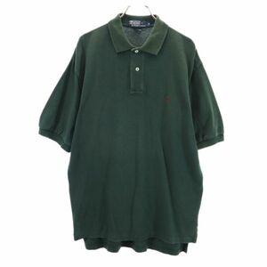 ポロラルフローレン 半袖 ポロシャツ M 緑 POLO RALPH LAUREN 鹿の子 ワンポイントロゴ メンズ 210715