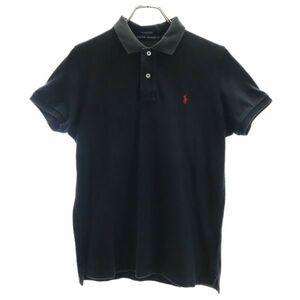 ラルフローレン THE SKINNY POLO ワンポイント刺繍 半袖 ポロシャツ 5f ブラック RALPH LAUREN 鹿の子 レディース 210828 メール便可