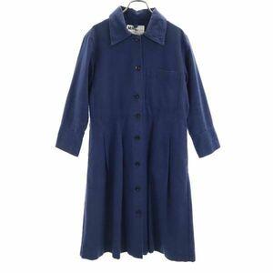 マーガレットハウエル MHL. ステンカラー ロングシャツ ワンピース 1 紺 MARGARET HOWELL レディース 210528