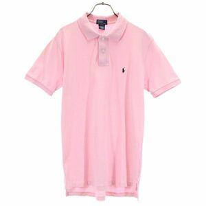 ポロラルフローレン ワンポイント 半袖 ポロシャツ XL ピンク系 POLO RALPH LAUREN ロゴ刺繍 鹿の子 メンズ 210830 メール便可