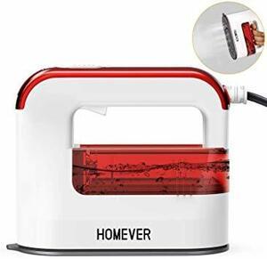 赤い スチームアイロン, Homever 衣類スチーマー シャツ アイロン ハンガーにかけたまま 2019最新のハンディアイロン
