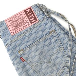 KITH NYC キス ニューヨークシティ × Levis リーバイス コラボ 501 ST チェッカーフラッグ ジーンズ ブルー size.30×32