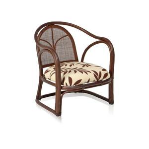 【値下げ】チェア 48×55×57cm 座面高30cm 完成品 肘付 籐家具 ラタン 籐 椅子 イス チェアー おしゃれ ブラウン M5-MGKFGB90005BR
