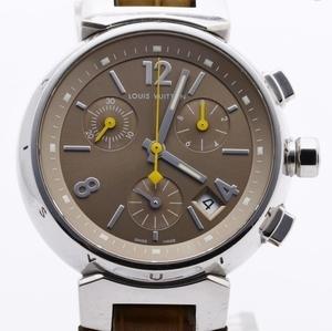 LOUIS VUITTON ルイヴィトン Q1322 タンブール クロノグラフ 腕時計 レディース 正規品 稼働品