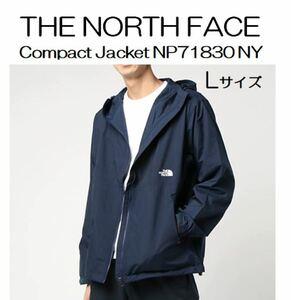 ノースフェイス コンパクトジャケット TNFネイビー Lサイズ