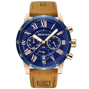 【!】クォーツメンズ腕時計 BENYAR 新トップ高級ブランドクロノグラフ男性スポーツ腕時計男性防水時計時計レロジオ Masculino