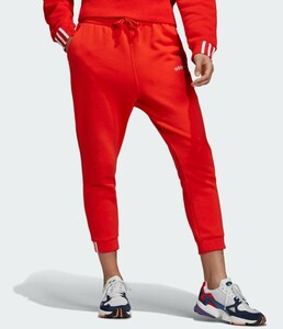 adidas レッド トラックパンツ ジャージ イージーパンツ レディース S スウェットパンツ トレーニングウェア アディダス