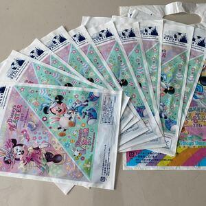 東京ディズニーリゾート 東京ディズニーランド 東京ディズニーシー ショップ袋 10枚 未使用品 2017 イースター TDL 送料無料