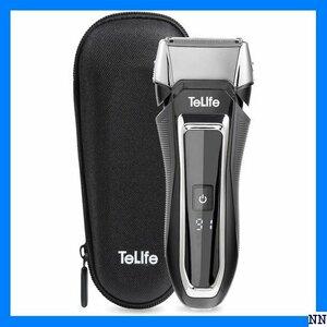 ★送料無料★ H1 TeLife ブラック 電気シェーバー 急速充電 水洗い/ り可 往復式 メンズシェーバー 電動 ひげそ 36