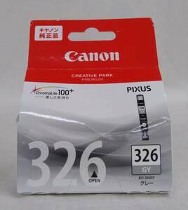 ジャンク [未開封] CANON PIXUS キャノン ピクサス 純正 インクカートリッジ BCl-326GY グレー 使用期限切れ 2020年09月