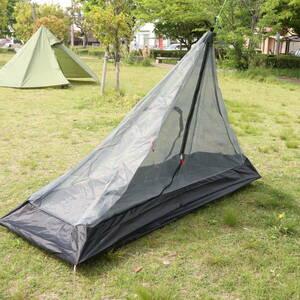 【国内発送・送料無料】 ハーフサイズ メッシュインナー ワンポールテント用 タップテント用 蚊帳 ソロキャンプ 《PayPay対応》