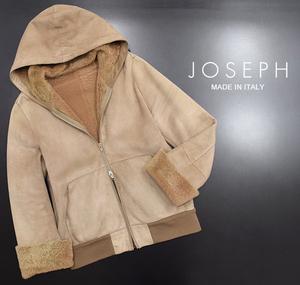 ◆定価20万円 イタリア製 ファーストライン ジョセフ【JOSEPH】ダブルフェイス 羊革 シープスキン 高級ムートンパーカ/M ベージュ◆