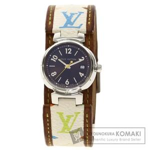 LOUIS VUITTON ルイヴィトン Q1211 タンブール マルチカラー 腕時計 ステンレススチール 革 メンズ 中古