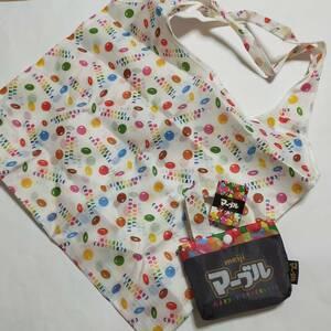エコバッグ マーブルチョコ お菓子の柄 鞄 エコバッグ トートバッグ 鞄 バッグ エコバ かばん バッグ カバン
