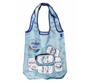 トートバッグ 鞄 バッグ エコバ かばん バッグ カバン 沖縄 オリオンビール 折り畳みエコバッグ 水色 ドラフト缶ロゴ入り