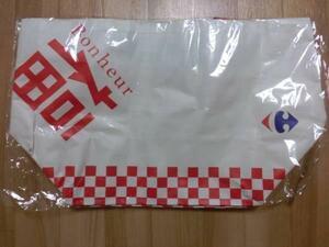 かばん 鞄 福 旧正月 春節 カルフール 大型 エコバッグ 台湾 白色 正月 エコバッグ トートバッグ 鞄 バッグ エコバ かばん バッグ カバン