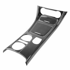 ★美品 ■炭素繊維スタイル中心歯車シフト水カップホルダーパネルカバートリム 3 個メルセデスベンツ CLA GLA をク TEE062