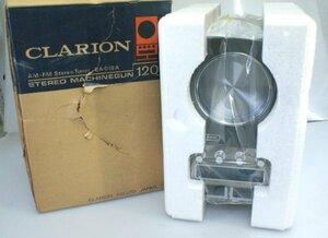 * unused Clarion( Clarion ) AM-FM radio deck EA-018A black post type radio stereo tuner that time thing retro audio