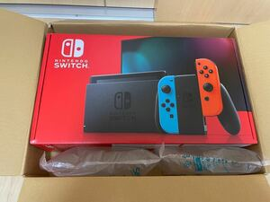 新品未開封 Nintendo Switch 本体(ニンテンドースイッチ) Joy-Con(L) ネオンブルー/(R) ネオンレッド