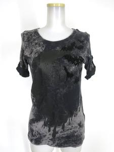 ALGONQUINS コウモリフロッキープリントブリーチ柄Tシャツ / アルゴンキン [B42722]