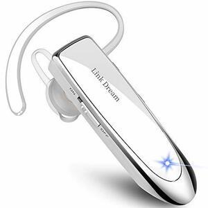 Link Dream 白 Bluetooth ワイヤレス ヘッドセット V4.1 片耳 マイク内蔵 ハンズフリー通話