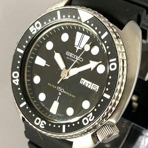 1980年代 6309-7049 SEIKO ダイバーウォッチ デイデイト 自動巻き 腕時計 セイコー 黒文字盤 ビンテージ メンズ アンティーク DIVER