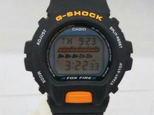 CASIO G-SHOCK DW-6600B FOXFIRE クォーツ ケースサイズ 4.0cm  ラバーベルト 遊革欠品