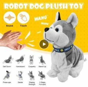 犬 ロボット 音制御付きの電子犬のおもちゃ ペット 8つの動き 子供向けのぬいぐるみ AZ0182
