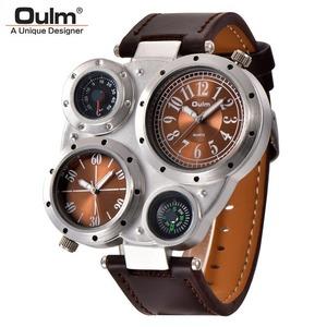 メンズ 防水 ユニークなデザイナー 腕時計 2つのタイムゾーン A2052