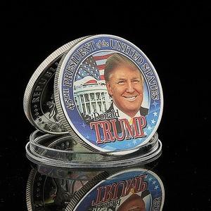 アメリカ元大統領ドナルドトランプコイン シルバーメッキ おもしろいグッズ コイン お土産 ギフト A1238