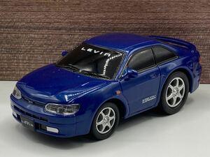即決有★プルバックカー トヨタ TOYOTA カローラ レビン AE111 青 ブルー トミカタウン★ミニカー