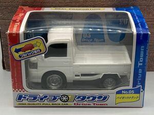即決有★プルバックカー DAIHATSU ダイハツ ハイゼットトラック 軽トラ 白★ミニカー ドライブタウン
