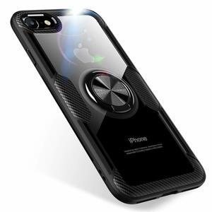 ブラック(リング付き) iPhone8/7 iPhone7 ケース/iPhone8 ケース リング付き スマホケース スリム 薄