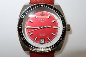 ★☆ ゾディアック シードラゴン メンズ クォーツ 赤 ZO2227 腕時計☆★