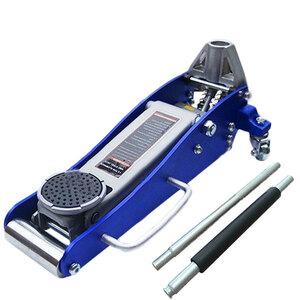低床軽量デュアルポンプアルミスチールジャッキ 油圧式 1500kg(1.5T)軽量アルミスチール製 ローダウンジャッキ 低床 デュアルポンプ