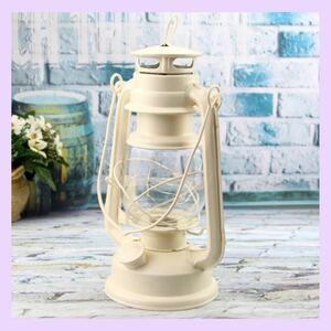 LEDランタン 白 ホワイト 明かり ランプ 電池式 お洒落 インテリア お部屋 災害時 懐中電灯 レトロ 新品 可愛い