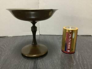 昭和レトロ、お洒落なアイスクリームカップ、金属製、銅製、指輪ネックレス入れ、置き物、KaIcut製